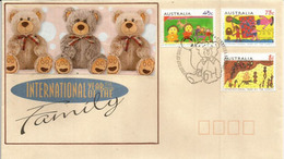AUSTRALIA. International Year Of The Family (Teddy Bear Australien), Série Sur Lettre Australie - Enfance & Jeunesse