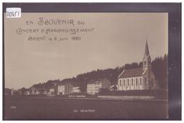 DISTRICT DE LA VALLEE - LE SENTIER - SOUVENIR DU CONCERT D'ARRONDISSEMENT ORIENT, JUIN 1920 - TB - VD Vaud