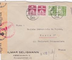 DANEMARK :  Lettre Avec Censure Allemande De Copenhague Pour Paris - 1913-47 (Christian X)