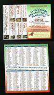 Calendarietto Pubblicitario 2012 - Organizzazione Bandistica - Calendari