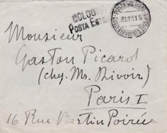 """ITALIE  :  Cachet """" Posta Militare """" Et Griffe Bologna Posta Estéra Sur Lettre De 1915 - Posta Militare (PM)"""
