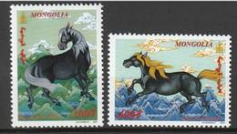 MONGOLIE - N°2611/2 ** (2001) Année Du Cheval - Mongolie