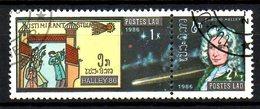 LAOS. N°730 Oblitéré De 1986. Tapisserie De Bayeaux/Comète De Halley. - Textile