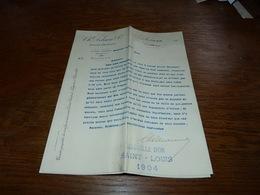 Document  Commercial Facture Ch Delacre Bruxelles 1905 - Belgique