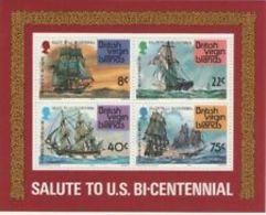 91693) Isole Vergini Britanniche U.S.  BICENTENARIO 1976 Mini Foglio-BF-MNH** - Timbres