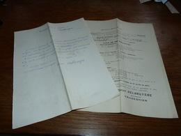 Document  Commercial Pharmacien Oscar Delbruyère Trazegnies 1904 Tarif Du Dépuratif Delbruyère - Belgique