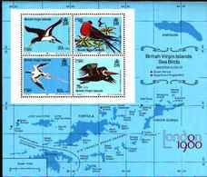 91694) Isole Vergini Britanniche -UCCELLI  Mini Foglio-BF 14-MNH** - Altri - America