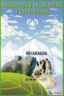 NICARAGUA 2011 / Superbe Bloc Dentelées MNH - Préservation Des Régions Polaires & Glaciers