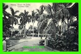 HABANA, CUBA - PARQUE DE COLON - COLOMBUS PARK - ANIMATED - EDICION JORDI - Cuba