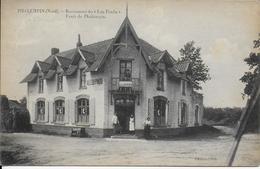 """Cpa  -59- Nord- PHALEMPIN-Restaurant Du """"Leu Pendu""""pers.proprio-écritz Voyagée édit.Petit - France"""