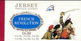 91695) LIBRETTO PRESTIGE JERSEY RIVOLUZIONE FRANCESE-MNH** - Jersey