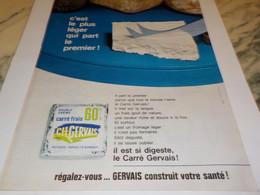 ANCIENNE PUBLICITE FROMAGE CARRE  FRAIS DE GERVAIS  1964 - Afiches