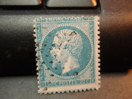 TIMBRE Napoléon III EMPIRE.FRANC  20 C Oblitéré. Voir Bordures - 1862 Napoleon III