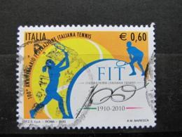 *ITALIA* USATO 2010 - CENT FIT FEDERAZ ITAL TENNIS - SASSONE 3200 - LUSSO/FIOR DI STAMPA - 6. 1946-.. Repubblica