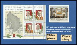 VATICANO 2019 5 F.lli Stamps 90° Anniversario Dei Patti Lateranensi E Della Fondazione Dello Stato Vaticano SCV MNH - Vatican
