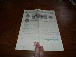 Document  Commercial Facture Fabrique D'huiles & Graisses Raffinerie De Pétrole Ferd. Demets Cureghem Lez Bruxelles 1905 - Belgique