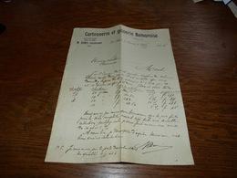 Document  Commercial Facture Cartonnerie Et Gainerie Namuroise La Plante 1904 Anc Calais Et Goebel Denis - Belgique