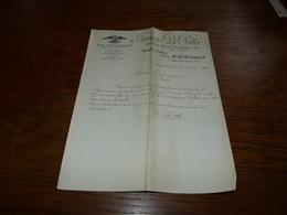 Document  Commercial Facture François De Potter Bruxelles 1903 Huiles Blanches Et Vaselines - Belgique