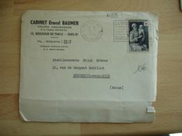 Timbre Croix Rouge Le Retour Du Bapteme Seul Sur Lettre - Postmark Collection (Covers)