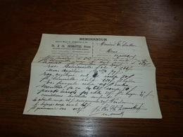 Document  Commercial Facture Th E Ch Desmottes Frères Deux-Acren 1903 - Belgique