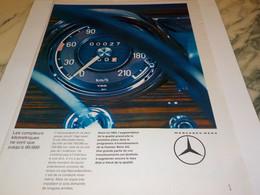 ANCIENNE PUBLICITE VOITURE MERCEDES BENZ  1964 - Cars