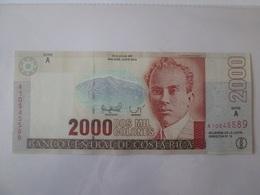 Rare Date! Costa Rica 2000 Colones 1997 Banknote AUNC - Costa Rica