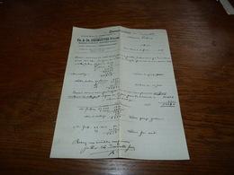 Document  Commercial Facture Th E Ch Desmottes Frères Deux-Acren 1906 - Belgique