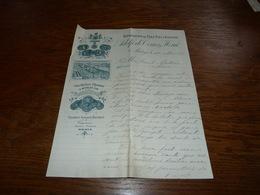 Document  Commercial Facture Exportation De Vins D'Espagne Adolfo De Torres Y Hern Malaga 1905 - Belgique