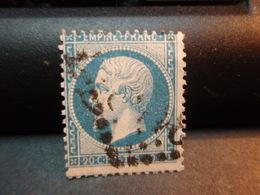 TIMBRE Napoléon III EMPIRE.FRANC  20 C Oblitéré. - 1862 Napoleon III