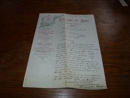 Document  Commercial Facture En Couleurs Papeterie De Diest 1900 Art Nouveau - Belgique