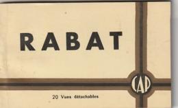 ***  Carnet Complet  *** Carnet Maroc   RABAT -beaucoup De Bonnes Vues Carnet Excellent état - Rabat