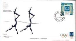91696) BRASILE 2004-FDC DELLE OLIMPIADI DI ATENE-12-6-2004 - FDC