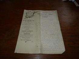 Document  Commercial Facture En Noir Et Blanc  Papeterie De Diest 1900 Art Nouveau - Belgique
