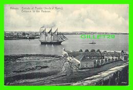 HABANA, CUBA - ENTRADA AL PUERTO, DESDE EL MORRO - ENTRANCE TO THE HARBOUR  -  EDICION JORD - ANIMATED WITH SHIPS - - Cuba