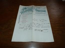Document  Commercial Facture Brasserie Brouwerij H Dillenberg 1899 Koekelberg Lez Bruxelles - Belgique