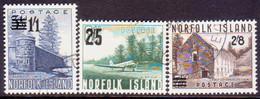 Norfolk Island 1960 SG 37-39 Compl.set Used Surcharges - Norfolk Island