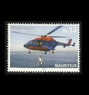 Mauritius (Ile Maurice) 2019 Police Helicopter Squadron(Rescue & Life Saving) 1v MNH Stamp - Complete Set- LATEST ISSUE! - Maurice (1968-...)