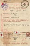 CROIX ROUGE . RARE LETTRE DEPART INDOCHINE EN 1943 . ADRESSE A JEAN MARQUET ECRIVAIN SUR L'INDOCHINE - Indochine (1889-1945)