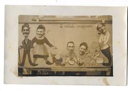 PHOTO Format Carte Photo MONTAGE FORAIN Scène Humoristique Pot De Chambre - Autres