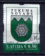 Lettonie - Lettland - Latvia 2019 Y&T N°(1) - Michel N°(?) (o) - 0,50€ Blason De Yukums - Lituanie