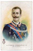 CPA  SIMPLE   VITTORIO EMANUELE III   1909     RE D ITALIA     ROI D ITALIE - Hommes Politiques & Militaires