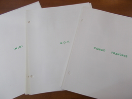 Lot N° 339  Colonies Francaise  AFRIQUE OCCIDENTALE Et Divers. Neufs**/ * Ou Obl Sur Page D'albums .  No Paypal - Stamps