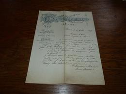 Document  Commercial Facture Denrées Coloniales Dumont Mabille à Binche 1899 - Belgique