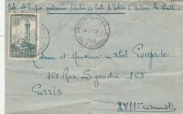 Andorre Yvert 36 Sur Lettre Cachet Andorre La Vieille 9/11/1948 Pour Paris - Andorre Français