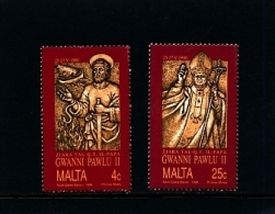 MALTA - 1990  VISIT OF POPE  SET  MINT NH - Malte