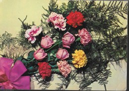 MAZZO DI ROSE - VIAGGIATA 1966 - Fiori