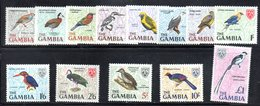 CI1161 - GAMBIA 1966 , Serie Yvert N. 208/220  ***  MNH  (2380A)  Uccelli Birds - Gambia (1965-...)