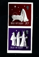 ISLE OF MAN - 1991  CHRISTMAS SELF-ADHESIVE  SET  MINT NH - Isola Di Man