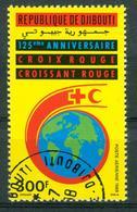 BM Dschibuti 1988 | MiNr 505 | Used | Flugpostmarke, 125 Jahre Rotes Kreuz - Djibouti (1977-...)