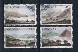 Färöer 1985 Gemälde Mi.Nr. 112/15 Kpl. Satz Gestempelt - Färöer Inseln